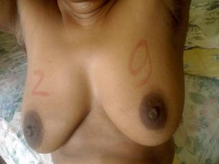 love those titties bet they would look even hotter with some white spunk shot all over them