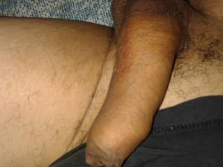 uncut semierecto pene