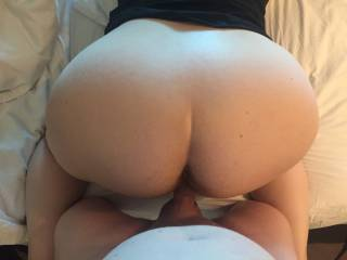 Bending my wife over and fucking that pussy until I pump cum in her guts