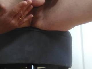 Masturbating with the cock and ball ring that arrived this morning. I was only going to take a pic but got a bit carried away.