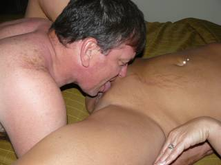 getting his fill of sexys sweet tasting pussy!