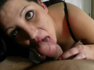 Another terrific cock-sucking!  His cock must feel geat!!  Did he give you an equally good pussy-sucking?  Your tits are beautiful, just like your lovely face.  How nice to see such a gorgeous lady giving a blowjob.  I'll be glad to volunteer to be next.  Do you want some long, slow pussy-sucking and licking?  I'm ready.  Love, Bob  XOXOXO