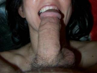 i like the dare to let her mouth give me a little of those sharp teeth when feeding my cock in that mouth *nibble*