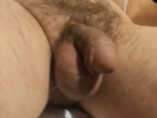 Less endowed mature male's junk.