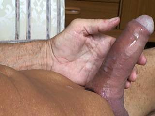 My firm cock covered in cum, anyone care to lick me clean ?