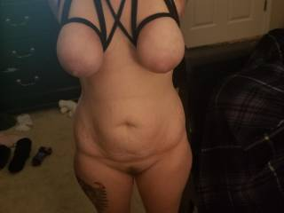 Sexy wife tied tits