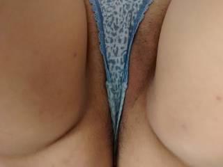 wife wearing small panties