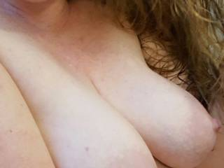 Hubby wants to put his cock between my milk filled breasts... what would you like to do?