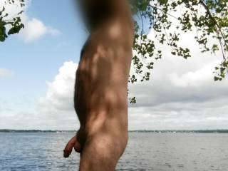 Love being naked outdoors. The risk of getting caught is always exciting!