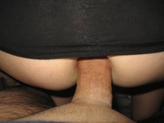 Great shot of pushing in her ass