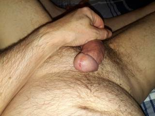 Stroking my lubed cock after admiring Mrs SprivateJ.