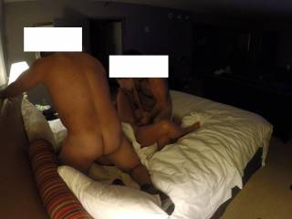 Wife getting gangbanged by 4 guys in Vegas