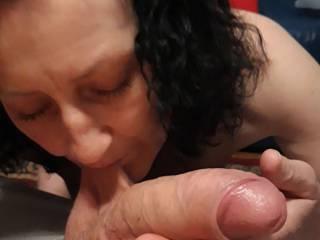 My new slut suckin my cock