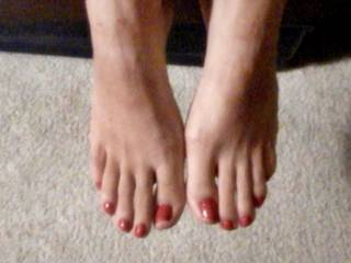 Wife have perfect feet, I cant stop smelling and kissing them