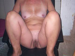 mrs chilling in computer chair before we fuck hope you like view ?