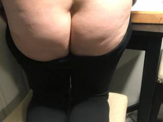 wife said she was a bad girl and wants a spanking...well she got one...then got fucked as she knelt on that chair...anyone wanna join me...