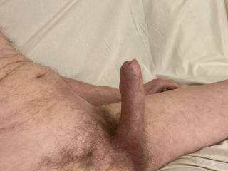 My foreskin looks set to begin to roll back. Would you like to lend it a hand?
