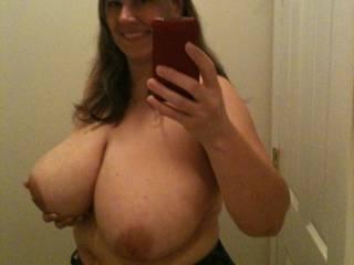 My Dom Friend\'s Wife Showing off Her Huge Titties