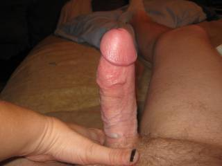 This is hubby after a few minutes of sucking on him.. wouldn\'t you love that cock inside you?