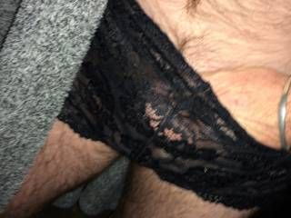 I will keep your secret if you will let me play and cum in those sexy panties too.