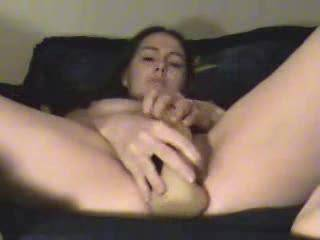 fingering my ass, fucking my pussy deep with my dildo, and cumming ;)