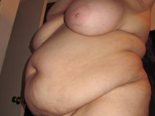 Dying to grab that big sexy belly and those tits while  I pound that sweet pussy