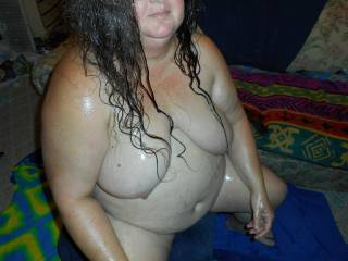 My wife fresh from the shower