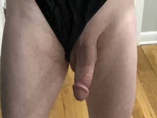 How do I look in skimpy black panties?  Not sure I fit....