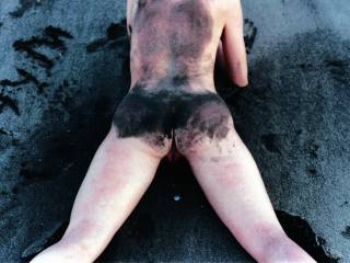 Creampied wife on the beach