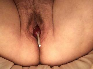 Who wants to pull on my lollipop and suck it!