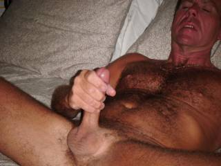 stroking my cock for you