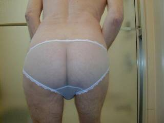 Love the panties,and such a cute ass too.