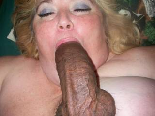 My Nuts Boiled for release as her mouth continued to suck on my Huge Black Cock