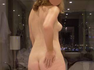 That has to be one of the most perfect bodies I have ever seen.  Those tits and arse are truly magnificent.  All the rest is stunning as well.  You are a lucky man hubby.