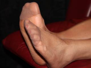 They most certainly are! Hell of a tease to keep such sexy toes and soles wrapped up in nylons...I feel honour bound to free them by tearing them off with my teeth THEN I could sniff kiss lick suck taste and explore those beauties to the full. Thank you for posting! :)