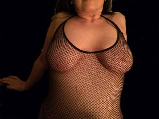 love to feel your breast through the mesh... rolling my fingers around your nipples... they look like they could use a good tonguing...