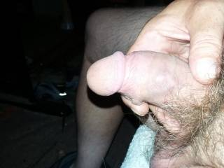 My soft small mature dick. It grows to around 5.5 long