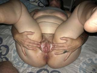 Wife's waiting to be licked and fucked.