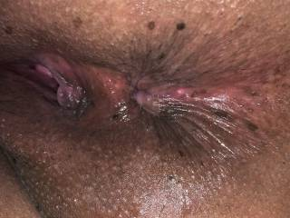 Just got done making her cum fucking her tight pussy my new target? What do you think about this tiny asshole?