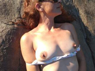 Amy showing tits
