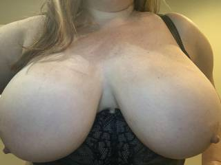 Big tits flopping out of my bra