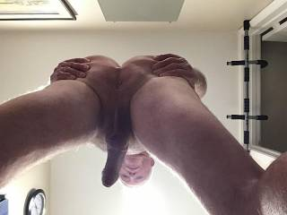 Preparing to sit down on your dick!