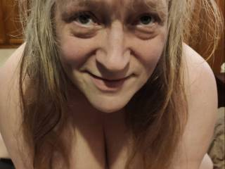 Can you see it in this married woman\'s eyes? Please look as I really need your cock! Cum help me out.