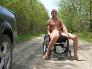 Me outside my car enjoying the sun!