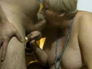 Here I keep sucking this hard dick while pull his balls gently. Then he want me to bite him HARD. Also he like to feel my teeth on his dick\'s head ... LIKE?