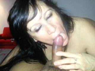 My wife knows she must always receive all the sperm inside her mouth and so she should open up her mouth and put his tongue out, in order not to waste the sperm left from the cocks of lovers and mine. If she refuses, escapes, closes her mouth and waste some sperm, she is immediately whipped on her naked body.