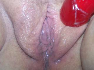 YES.....I wanna lick every drop of that cum off that sweet wet pussy.....mmmm