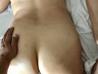 Just feeling his load coming out of me !!!
