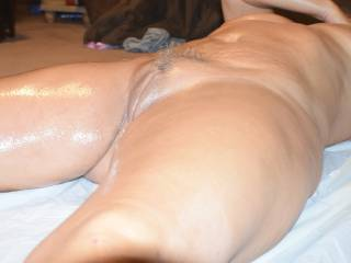 All oiled and ready for some slippery sex.