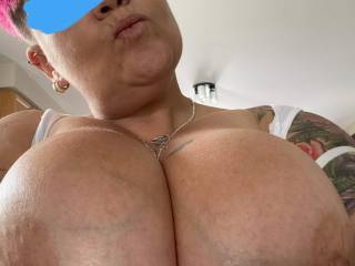 My wife just loves taking photos of her huge 44E\'s for me